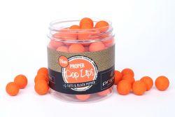 Proper Carp Baits Tutti & Black Pepper Popups 16mm orange