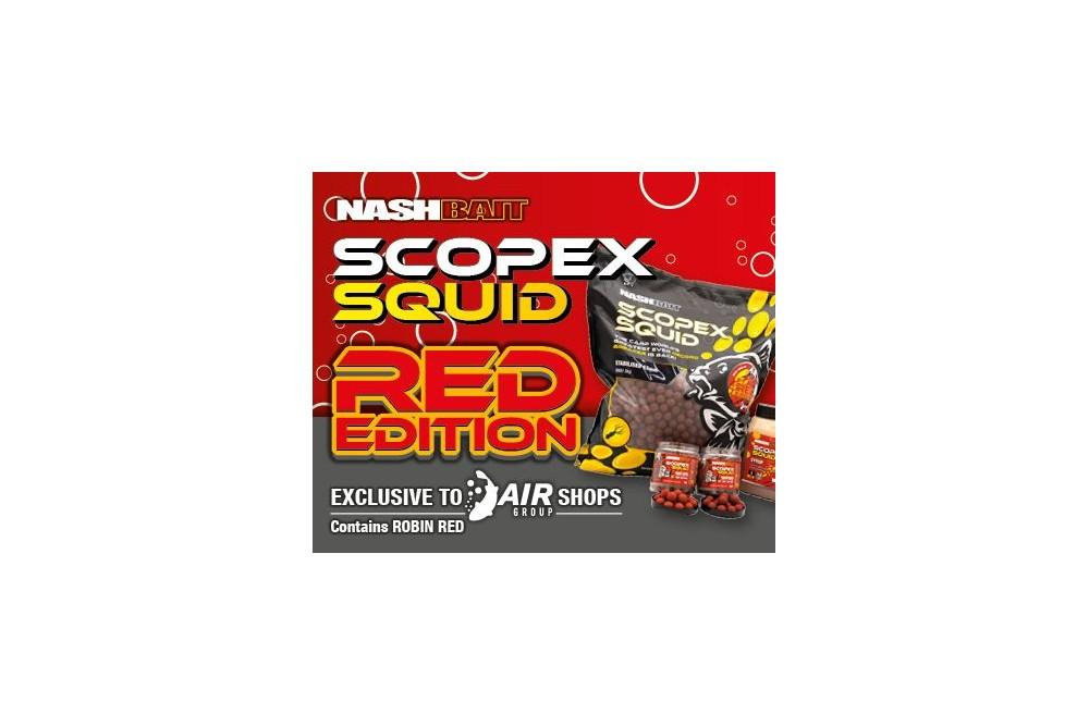 Nash Baits Scopex Squid Red Stabilised, 15mm 5kg
